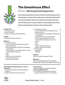 The Greenhouse Effect: Warming the Earth Experiment Lesson Plan