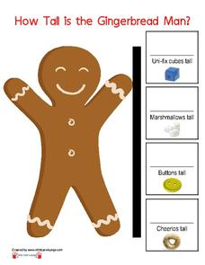 How Tall is the Gingerbread Man? Printables & Template