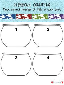 Fishbowl Counting Printables & Template