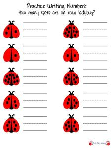 How Many Spots are on Each Ladybug? Printables & Template