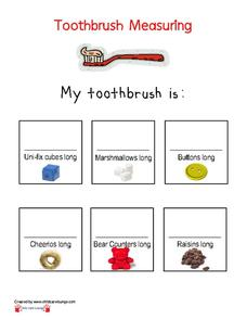 Toothbrush Measuring Printables & Template