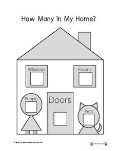 How Many in My Home? Printables & Template