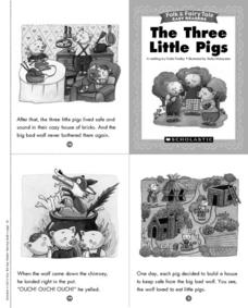 Folk and Fairy Tale Readers: The Three Little Pigs Printables & Template