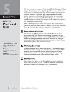 The Poetry of Robinson Jeffers: Poetry and Ideas Lesson Plan