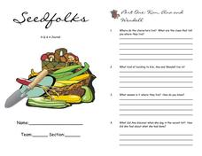 Seedfolks Q & A Journal Worksheet
