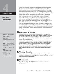 The Stories and Poems of Edgar Allan Poe: Allusions Lesson Plan