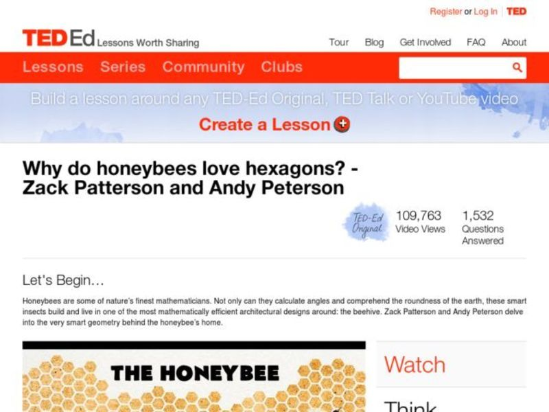 Why Do Honeybees Love Hexagons? Video