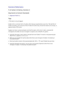Radiocarbon dating lesson plan