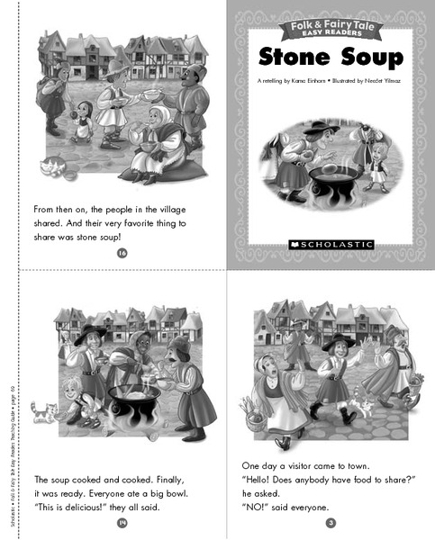 photograph about Stone Soup Story Printable identified as Folks and Fairy Story Visitors: Stone Soup Printables