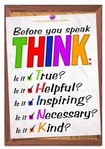 Think Before You Speak Quote Printables Template For Kindergarten