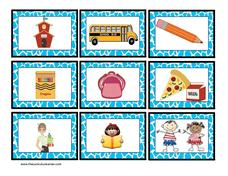 English & Spanish School Word Cards for ELL Printables & Template