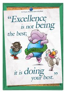 Excellence Is - Children's Quote Printables & Template
