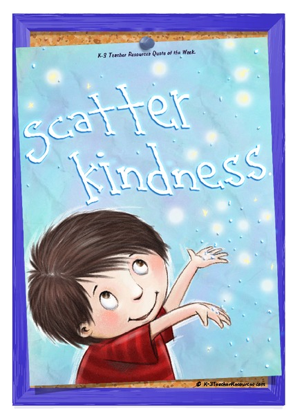 Scatter Kindness Quote Printables & Template