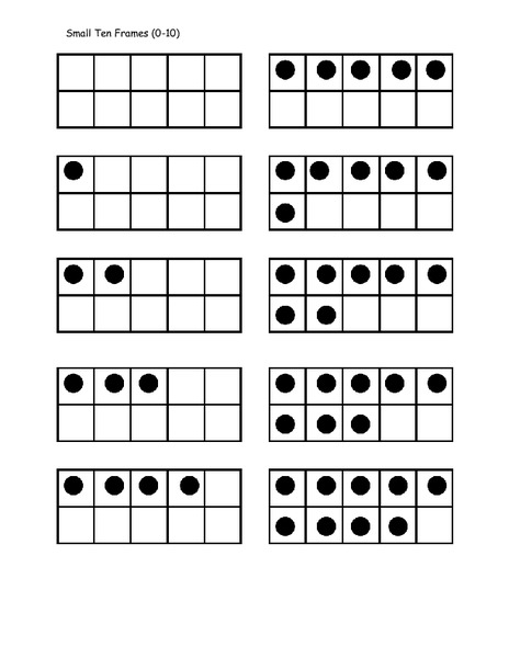 image regarding Ten Frame Printable identify Math 10 Body 0-10 Printables Template for Pre-K - 2nd