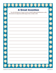 A Great Invention Writing Prompt