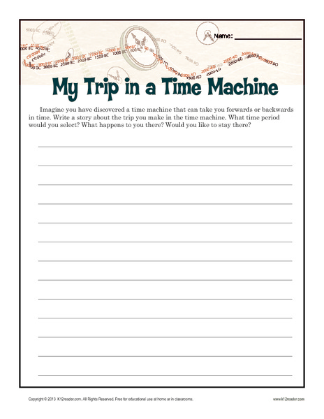 my trip in a time machine writing prompt for 5th 8th grade lesson planet. Black Bedroom Furniture Sets. Home Design Ideas
