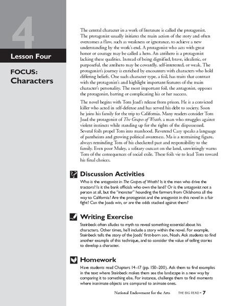 grapes of wrath unit plan pdf