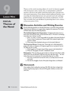The Grapes of Wrath: Themes of the Novel Lesson Plan
