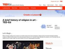 A Brief History of Religion in Art Lesson Plan