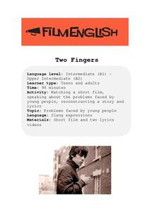 Two Fingers Lesson Plan