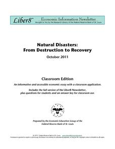 Natural Disasters: From Destruction to Recovery Worksheet