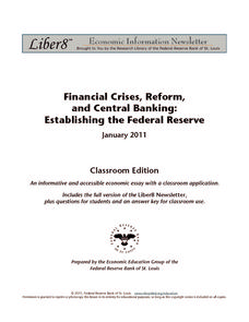 Financial Crises, Reform, and Central Banking: Establishing the Federal Reserve Worksheet
