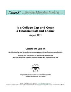 Is a College Cap and Gown a Financial Ball and Chain? Worksheet