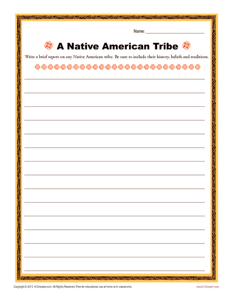 A Native American Tribe Writing Prompt