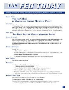 The Fed's Role in Making and Setting Monetary Policy: Part 1 Lesson Plan