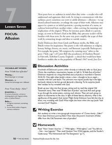 Allusion Lesson Plans Worksheets Lesson Planet