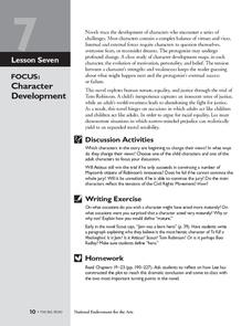 Character traits worksheet to kill a mockingbird