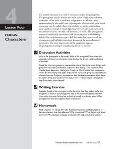 To Kill a Mockingbird: Characters Lesson Plan