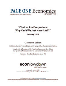 Choices Are Everywhere: Why Can't We Just Have It All? Worksheet