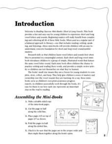 My Book of Words With a Short A: A Mini Book Printables & Template