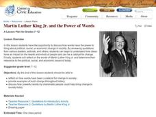 Martin Luther King Jr. and the Power of Words Lesson Plan