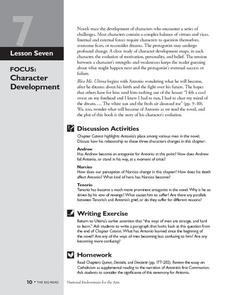 Bless Me, Ultima: Character Development Lesson Plan