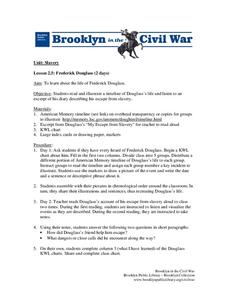 Frederick Douglass Lesson Plan