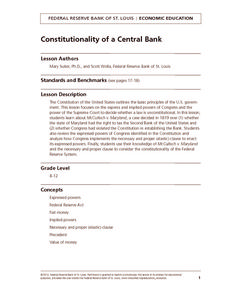 Constitutionality of a Central Bank Lesson Plan