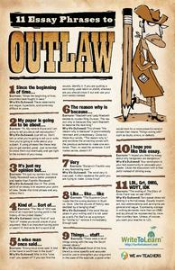 Phrases to Outlaw in Students' Writing Printables & Template