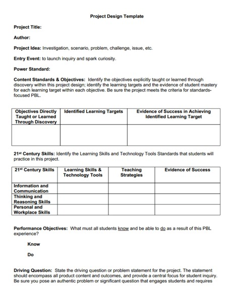 Mastery Learning Lesson Plans Worksheets Reviewed By Teachers - Project based learning lesson plan template