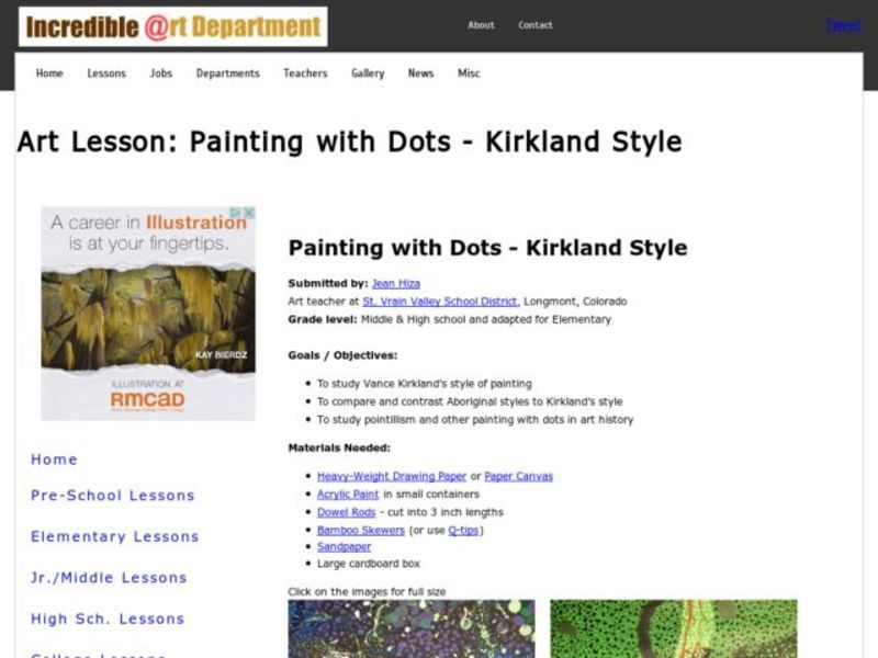 Painting with Dots - Kirkland Style Activities & Project