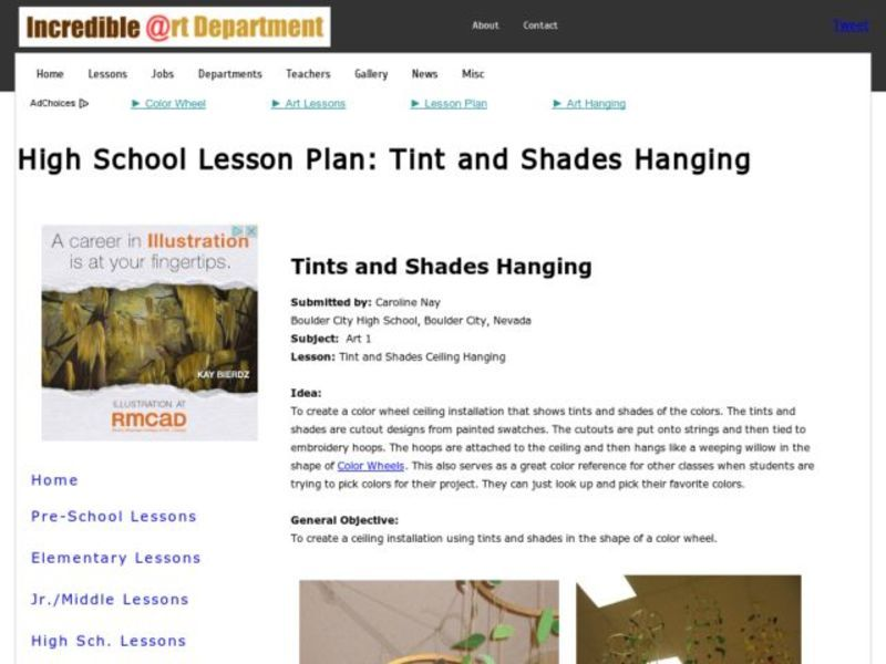Tints and Shades Hanging Activities & Project