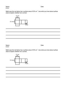 Writing Task 6.G.4 Worksheet