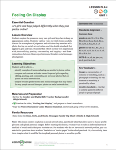 Feeling On Display Lesson Plan