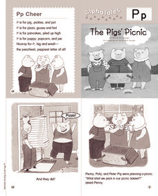 Alpha Tales: The Pig's Picnic (Letter P) Printables & Template