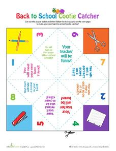 Back to School Cootie Catcher Printables & Template