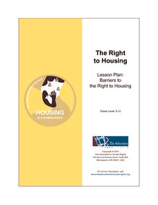 The Right to Housing Lesson Plan