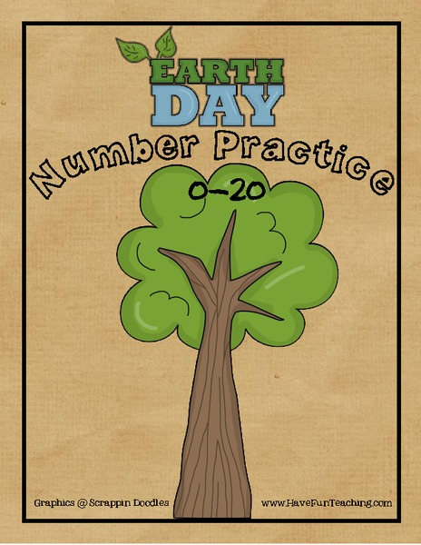 Earth Day Number Practice 0-20 Printables & Template