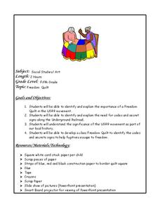 Freedom Quilts Lesson Plan