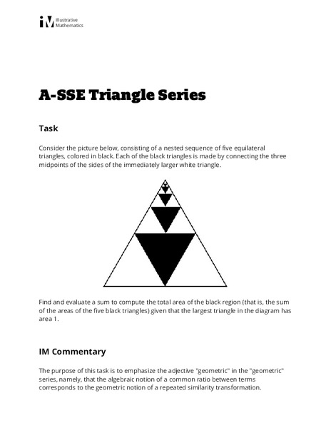 Triangle Series Activities & Project